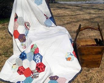 Quilt: Japanese Fabric Hexie & Sashiko Quilting