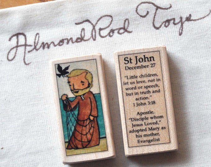 St John the Evangelist Patron Saint Block // 100+ Catholic Saints to choose from // Catholic boy
