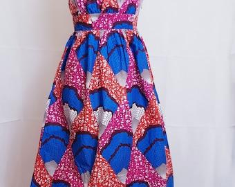 Elegant A Line Ankara Print Dress