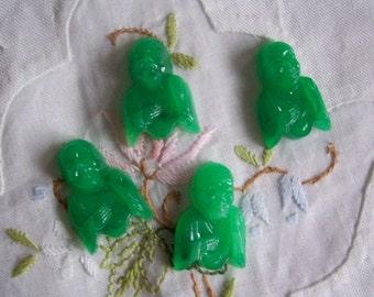 6 PC Vintage Green Buddha Stone / 11 x 24 - ZNE L247