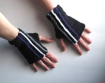 Ace Striped Fingerles Gloves, READY TO SHIP