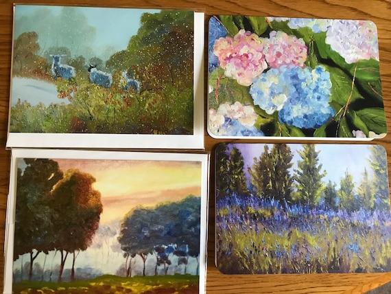 Blank Cards, Art Notecard Sampler, Original Art Notecards, Art Stationary, Greeting Cards, Painting Cards
