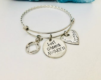 Narcotics Anonymous, NA Jewelry, Recovery, Recovery Jewelry, Sobriety Jewelry, NA Bracelet, Recovery Bracelet, Sobriety Anniversary, Sober