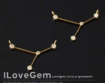 06-CO1898-GO 1pc of Cancer, Gold, Constellation Necklace, Zodiac Sign Jewelry, Zodiac Pendant