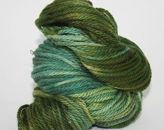 Hand-Painted Bulky 100% Superwash Merino Wool Yarn - Moss Between the Toes