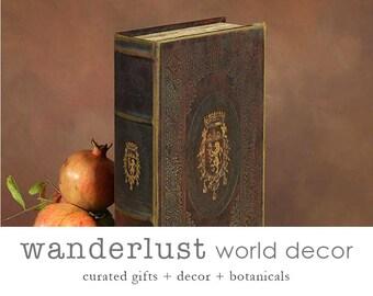 Secret Book Box, Book Boxes, Book Decor, Wooden Book Box, Keepsake Book Box, Hollow Book, Book Safe, Secret Book Box, Secret Compartment