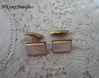 Vintage shell cufflinks Mother of pearl