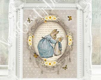 Beatrix Potter Nursery Baby Boy Peter Rabbit Nursery Beatrix Potter Print Peter Rabbit Print Peter Rabbit Baby Shower Decor Beatrix C:B11