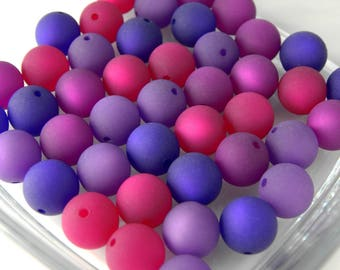 20 Original POLARISPERLEN 14 mm large purple mix blackberry Purple polaris Farbenmix 4 colors