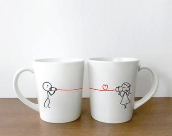 Wife Gift, Girlfriend Gift, Couple Mugs, Anniversary Gift for Her, Wedding Gifts, Couple Gifts, His and Hers Mugs, Say I Love You BoldLoft