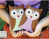 Owl Favor Pillow box - Ha...