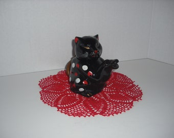 Vintage Cat Tea Pot Made in Japan