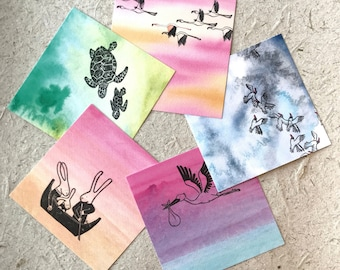 Advantageset Watercolor Cards
