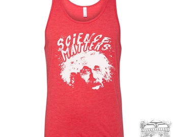 Unisex Tank Top SCIENCE Matters Tri Blend hand screen printed xs s m l xl xxl (+ Colors) workout