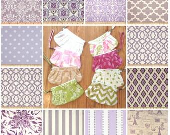 Custom Lavender Purple Wedding Clutches | Bridesmaid Wristlet | Set of Bridesmaid Clutches | Bridal Party Gift | Custom Clutch Set