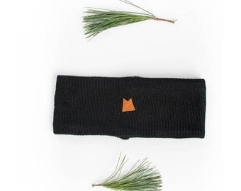 Black headband as the stove, handmade Saguenay, ear warmer, winter accessory, gift for her, gift for him, gift for them