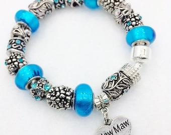 Maw Maw European charm Bracelet