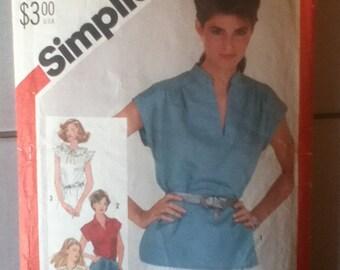 "Simplicity Retro Top Pattern 5456 Size: 12, Bust 34"", Waist 26"", Hip 36"""