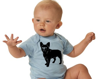 French Bulldog Baby Clothes, French Bulldog Bodysuit, French Bulldog Baby Gift, Baby Onepiece, Frenchie Top, Baby Shower Gift Frenchie Shirt