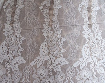 off white chantilly lace fabric by the yard