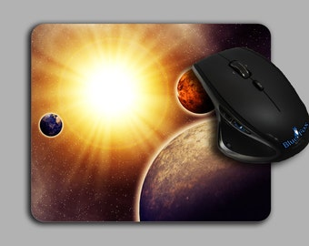 Mouse Pad, Solar system,Planets,Planatarium Image,Space Decor,Office Gift,Cloth Top mousepad,MP-109