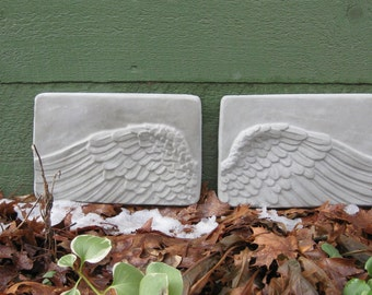 Hanging Concrete ANGEL WING Plaques
