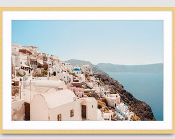 Made-to-order Aerial Beach Greece Santorini Water Photography Wall Art Prints