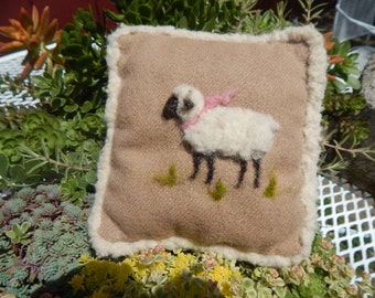 Small Felted Sheep Pillow