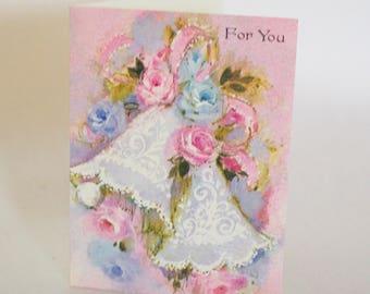 Pastel Vintage Small Wedding Card