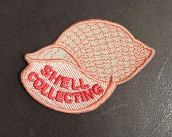 Shell Collecting Merit Badge Beach Comber Collector Patch