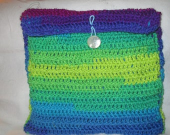 SALE Hose lingerie bag hand crochet fleece lined