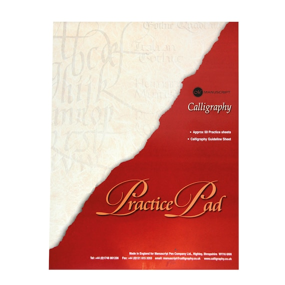 Calligraphy Practice Pad 50 Sheets