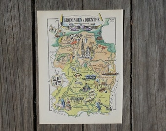Netherlands map Etsy