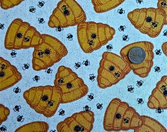 "Beehive print fabric 2 yd and 16"" x 44"" wide"