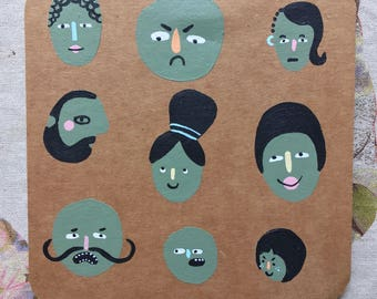 Mini Artwork | People Green