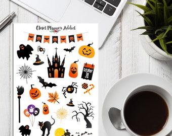 Halloween 2017 Planner Stickers | Halloween Stickers | Ghost Stickers | Pumpkin Stickers | Autumn Stickers | Fall Stickers (S-286)