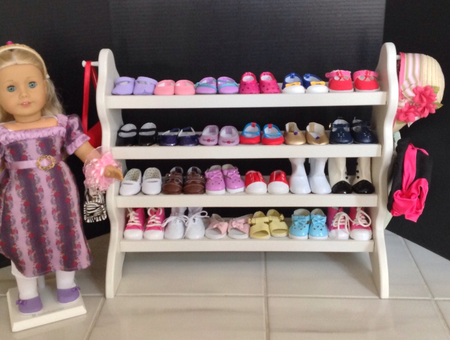 American Doll shoe rack for 18 doll