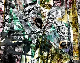 Abstract Texture Collage Print