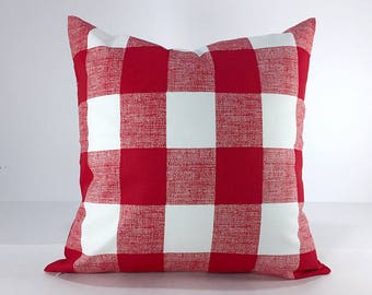 Red Pillow Cover, Red Decorative Pillow, Throw Pillow, Red Pillows, Toss Pillow, Accent Pillow, choose your size