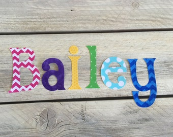 Your Name Iron On Applique Letters DIY Letters ABC