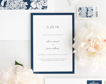 Sophisticated Modern Save the Date - Deposit
