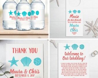 Wedding Welcome Bag Kit,  Destination Wedding, Wedding Favors, Welcome Bags, Tag, Water Bottle Labels, Door Hanger