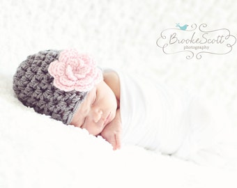 Baby Girl Hat / Crochet Baby Hat / Baby Girl Beanie / Newborn Girl Hat / Baby Shower Gift Girl / Crochet Newborn Hat / Infant Girl Hat