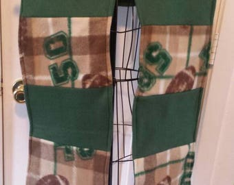 Football plaid green scarf.