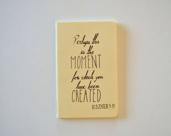 Esther 4:14 Small Moleskine Cahier Yellow Journal Bible Notebook Pocket