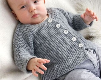 Baby knit jacket made of alpaca