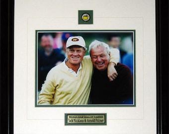 Jack Nicklaus & Arnold Palmer PGA Golf 8x10 frame