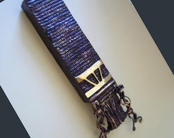Tallit Mezuzah, Bronze, in Purple, Blue and Green