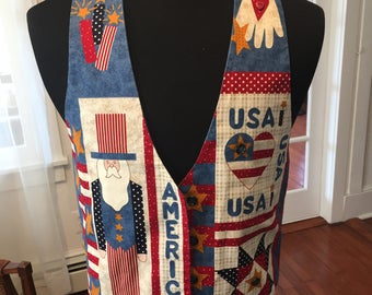 Handmade USA Uncle Sam Vest