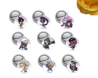 """Overwatch Mini 1"""" inch Pinback Button OR Magnet"""